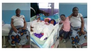 61-year-old woman gives birth to triplets
