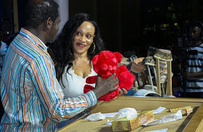 Valentine's Day - Uganda Pastor all loved up in a hot kiss with his wife