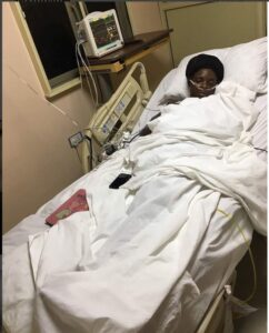 Emotional: Lady with Amputated leg, gave thanks to God on her Birthday