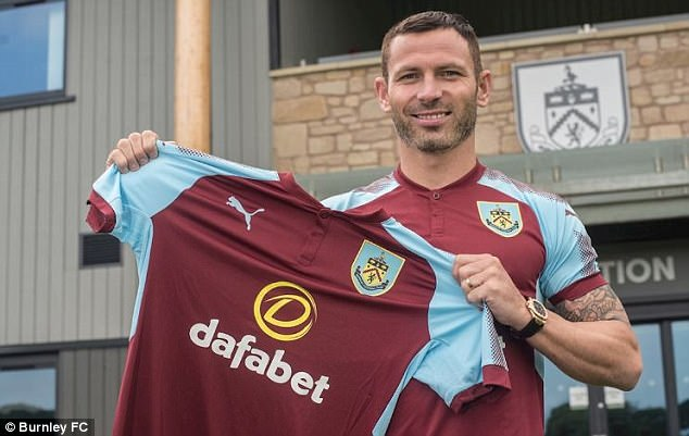 Stoke City defender, Phil Bardsley joined Burnley on a two-year contract