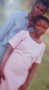 Emmanuella and Mark during their dating days in Secondary school