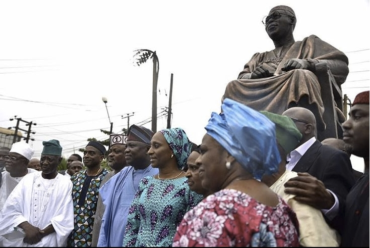 Wife of the Vice President unveils the statue of Obafemi Awolowo in Lagos -dailyfamily.ng