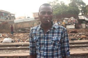 Resident reacts to demolition exercise along Pencinema railway route