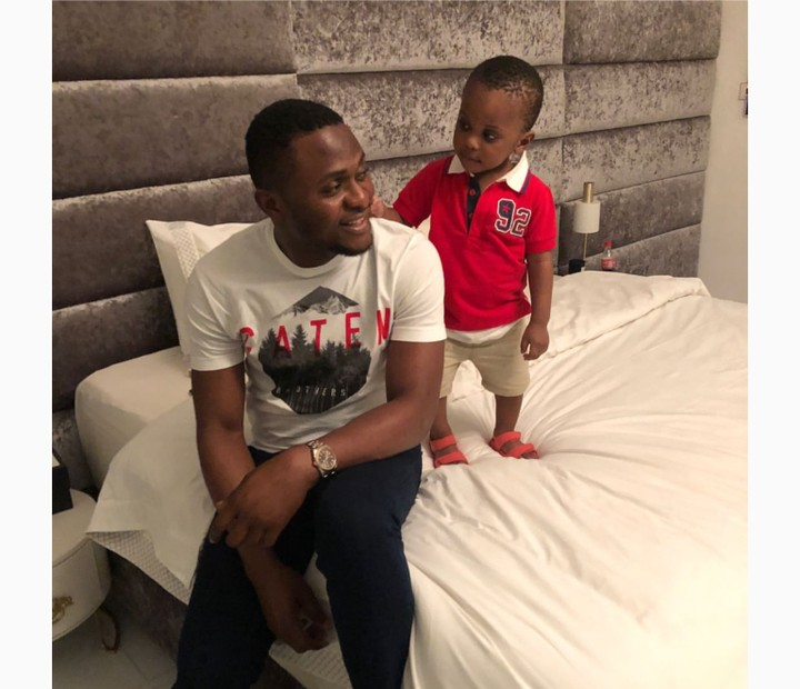 Popular Music Businessman, Ubi Franklin shares amazing moment with son