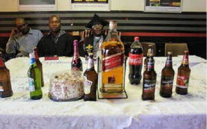 Bishop Endorses Sale of Alcohol Drink During Church Service (See Shocking Photos)