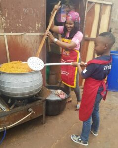 Mercy Aigbe Shows Off Cooking Skills with Her Son3.dailyfamily.ng