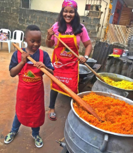 Mercy Aigbe Shows Off Cooking Skills with Her Son (See Photos).dailyfamily.ng