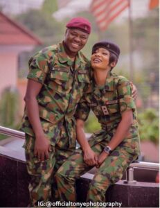 See Lovely Pre-Wedding Photos from Two Military Lovers.dailyfamily.ng