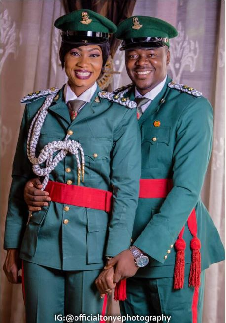 See Lovely Pre-Wedding Photos from Two Military Lovers2.dailyfamily.ng