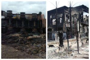 Sad! Church, hotel, shops burnt as tanker explodes in Rivers.