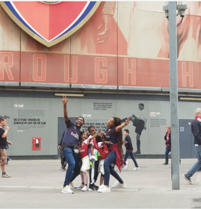 Timi Dakolo and his Family on Vacation in England