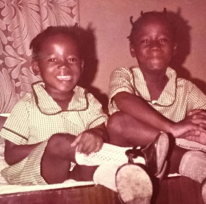 Late Tosin Bucknor and Sister During Childhood