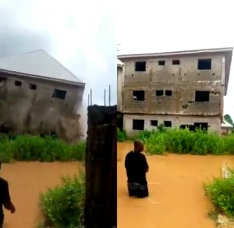 Moment Two Storey Building Collapse (Video)-dailyfamily.ng