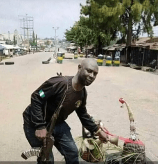 Unbelievable! 'Juju' put in front of Police station in Abia to chase off 'unknown gunmen'