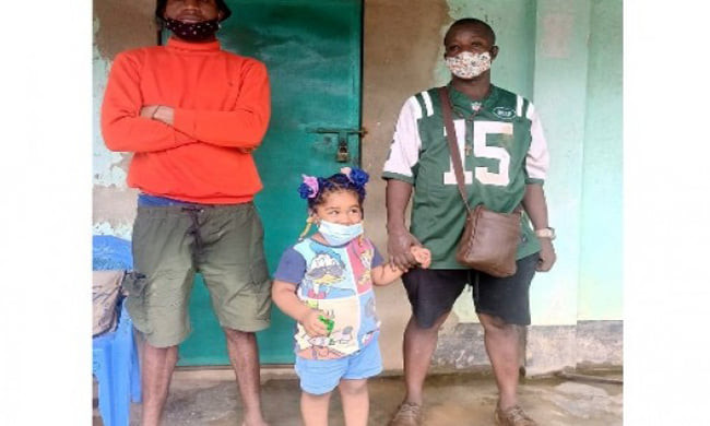 A 3-year-old girl detained for illegal entry into Bangladesh